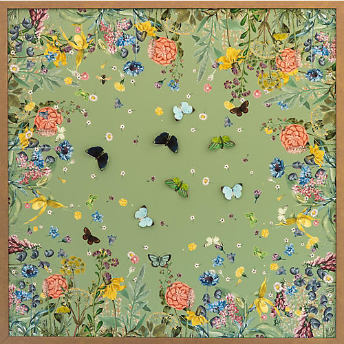 Dawn Wolfe, Green Scarf w/ Butterflies