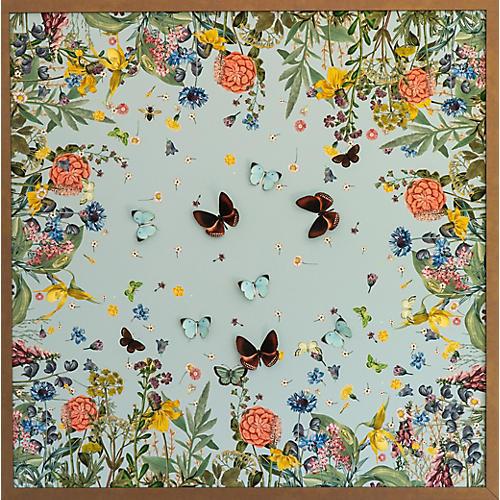 Dawn Wolfe, Blue Scarf w/ Butterflies