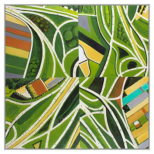 Toni Silber-Delerive, Green Quadriptych