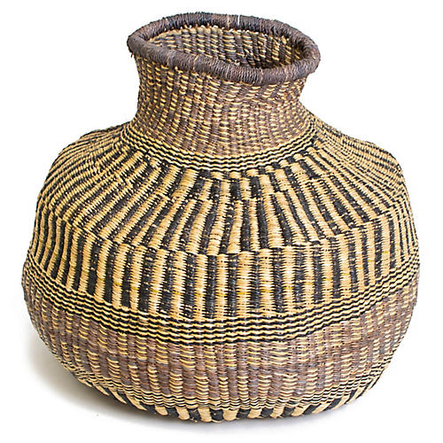 "17"" Nyeusi Mfano Basket, Natural/Multi"