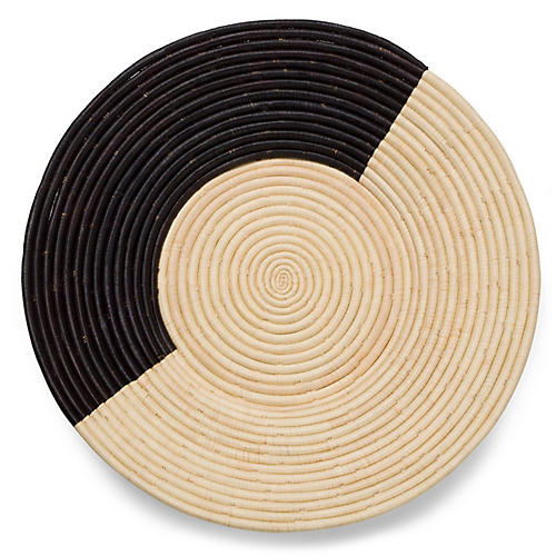 "22"" Ninyi Decorative Plate, Black/Natural"