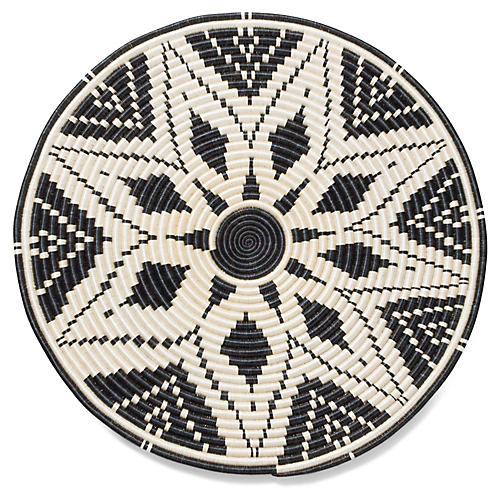 Dari Decorative Tray, Black/White