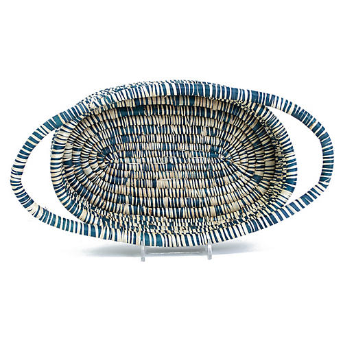 "13"" Upendo Oval Basket, Heathered Slate"
