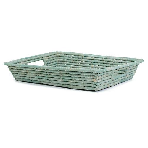 """12"""" Mwezi Decorative Tray, Slate Blue"""
