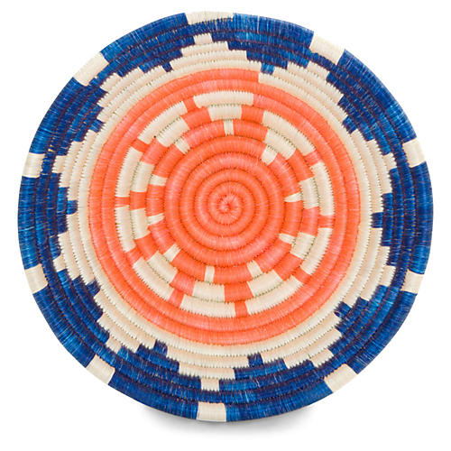 "6"" Mchanga Decorative Bowl, Peach/Blue"