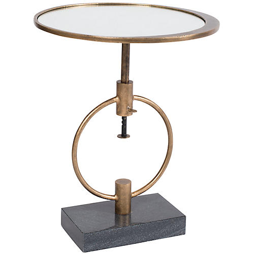 Montgomery Side Table, French Brass