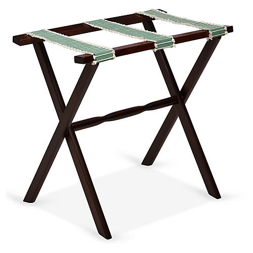 Rowan Luggage Rack, Sage/Walnut