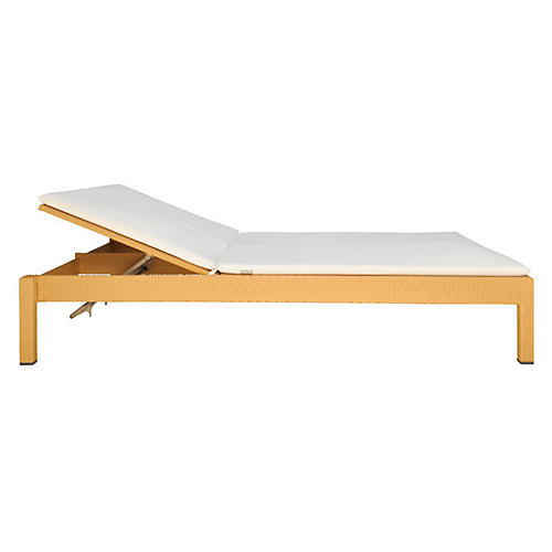 Cremona Double Chaise, Natural