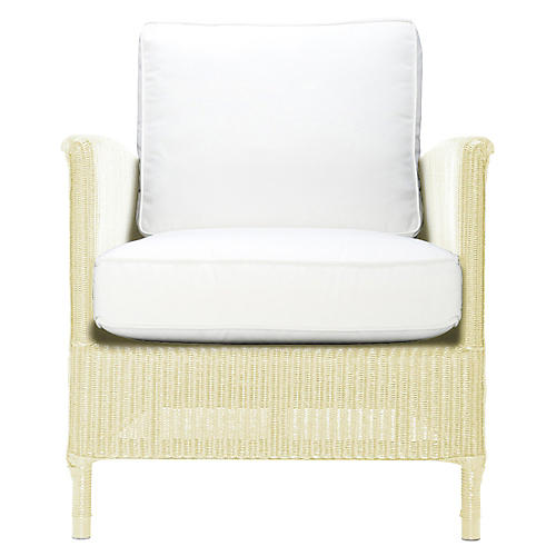Deauville Lounge Chair, Ivory