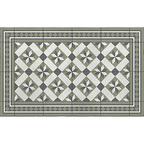 Galina Floor Mat, Sage