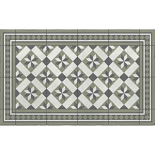 Galina Floor Mat, Sage