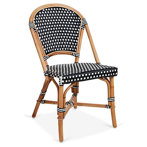 Chloe Bistro Chair, Black/White