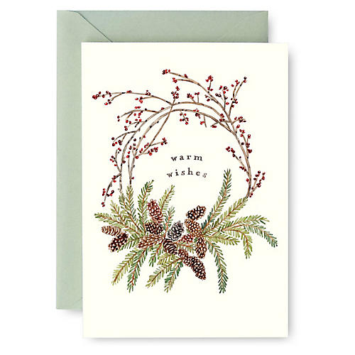 S/8 Pinecone Wreath Boxed Cards