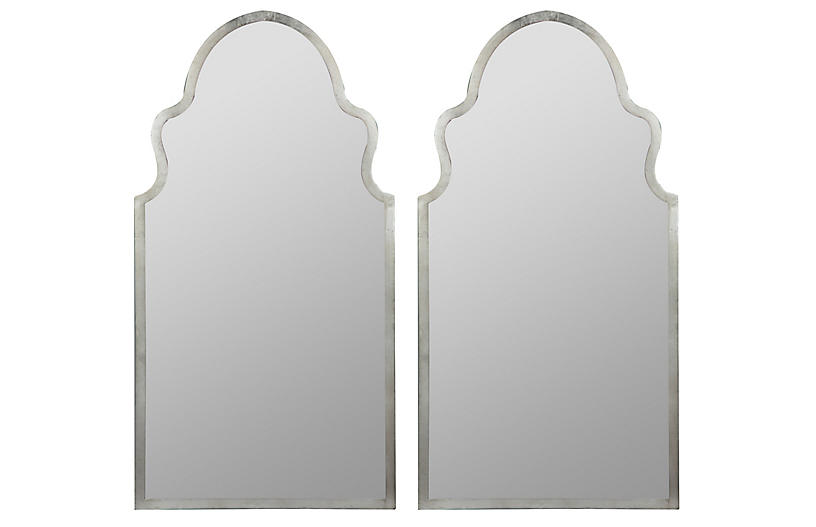 S/2 Bianca Wall Mirrors, Silver