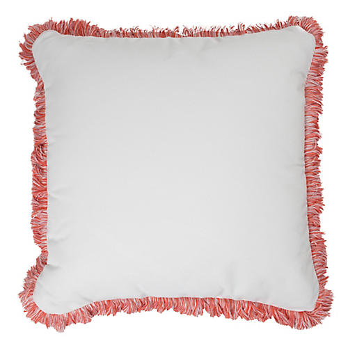 Kit Outdoor Fringe Pillow, Pink