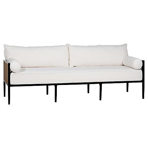 Newport Sofa, Black/White