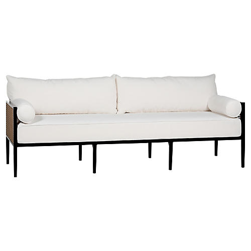 Newport Sofa, Black/White