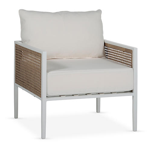 Newport Lounge Chair, White