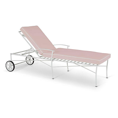 Kendal Chaise, White/Pink