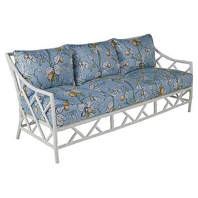 Kit Sofa, White/Lemons Sunbrella