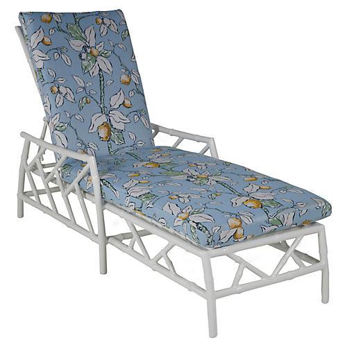 Kit Chaise, White/Lemons Sunbrella
