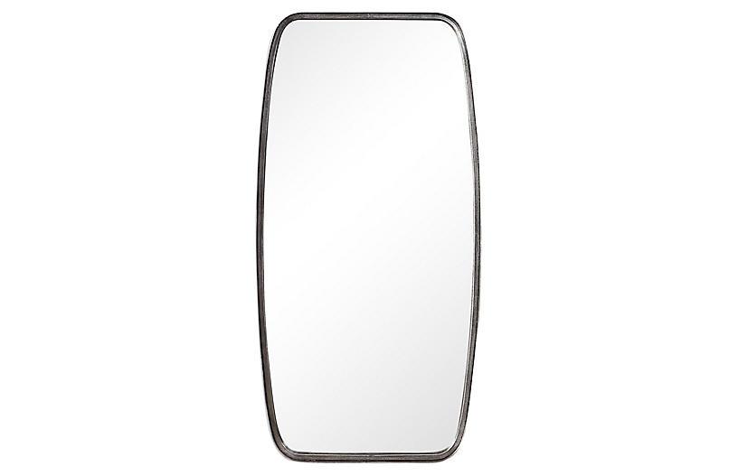Ola Wall Mirror, Silver