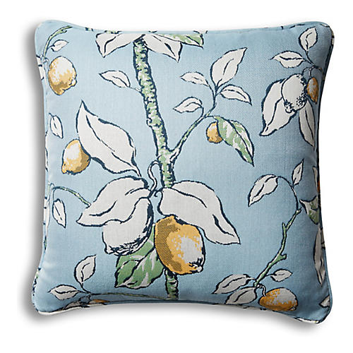 Kit Outdoor Pillow, Lemons