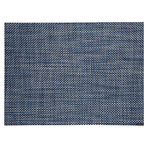 Basketweave Place Mat, Denim