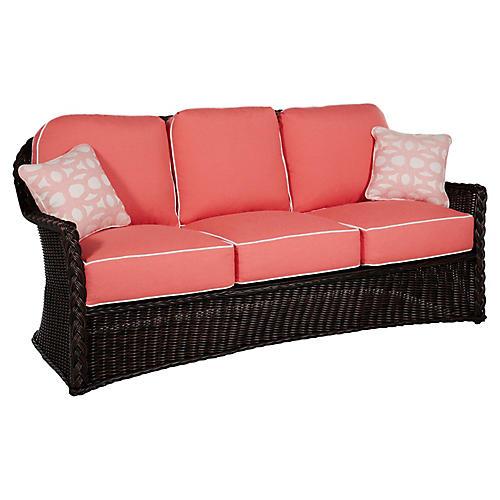 Sedona Sofa, Coral/Black