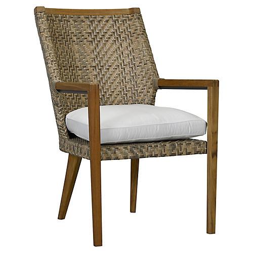 Cote d'Azur Armchair, Natural/Taupe