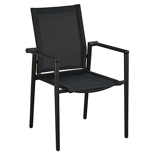 Essentials Tyler Stacking Armchair, Black