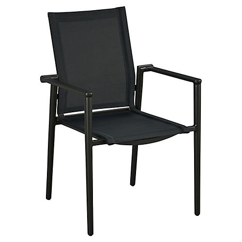 Essentials Tyler Stacking Armchair, Black