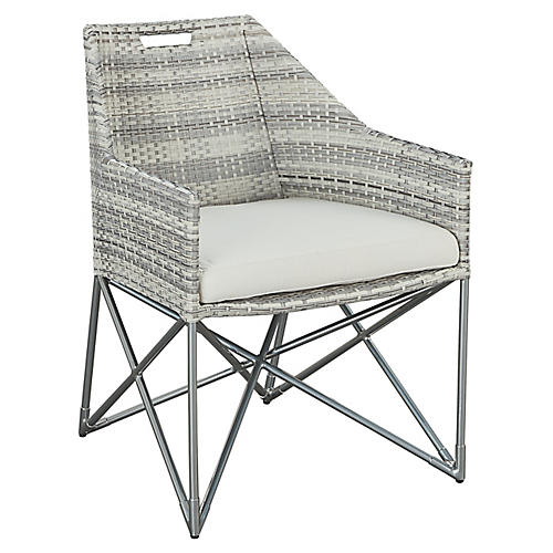 Jewel Armchair, Gray/Natural
