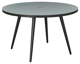 Round Dining Table Black Glass