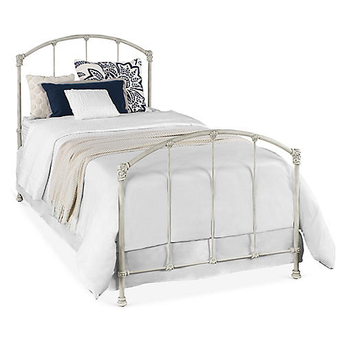 Lomas Kids' Bed, Antiqued White