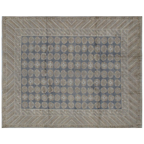 Loni Hand-Knotted Rug, Blue/Sand