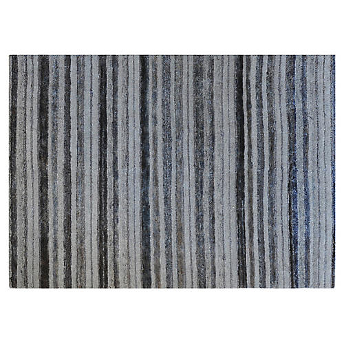 10'x14' Alpur Hand-Knotted Rug, Gray/Multi
