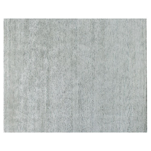 Baberu Hand-Knotted Rug, Pale Gray