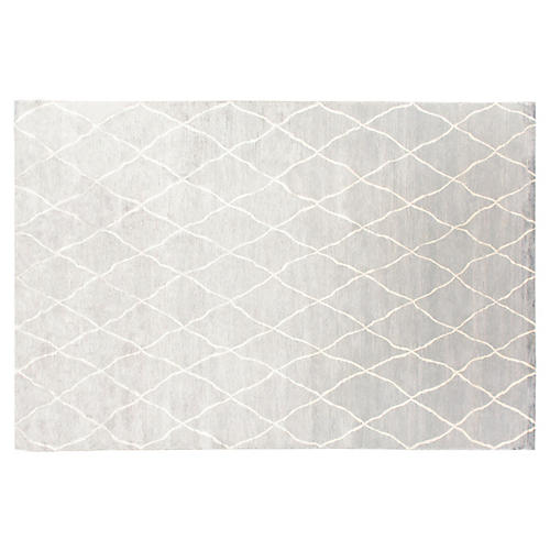 Kallur Hand-Knotted Rug, Gray/Ivory