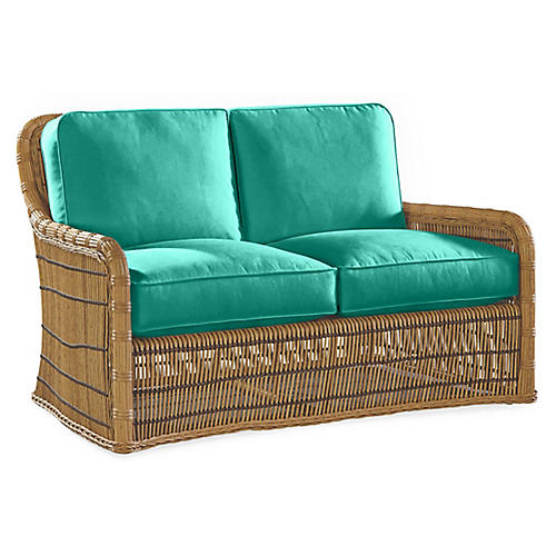 Rafter Loveseat, Turquoise