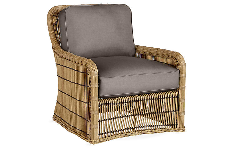 Rafter Lounge Chair, Gray