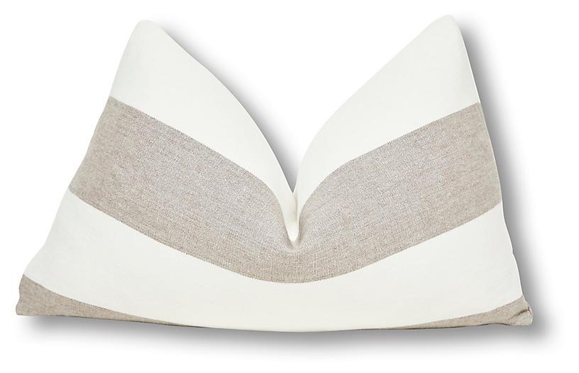 Nala 16x25 Indoor/Outdoor Pillow, Salt