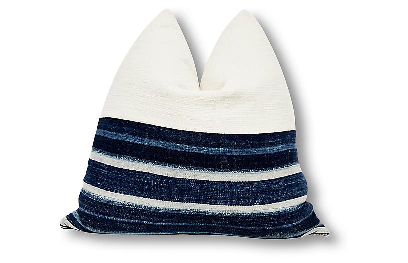 Cara 24x24 Pillow, Indigo