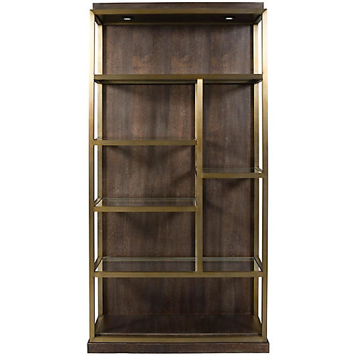 Beacon Left Bookshelf, Walnut