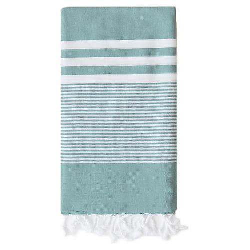 Nina Hand Towel, Teal