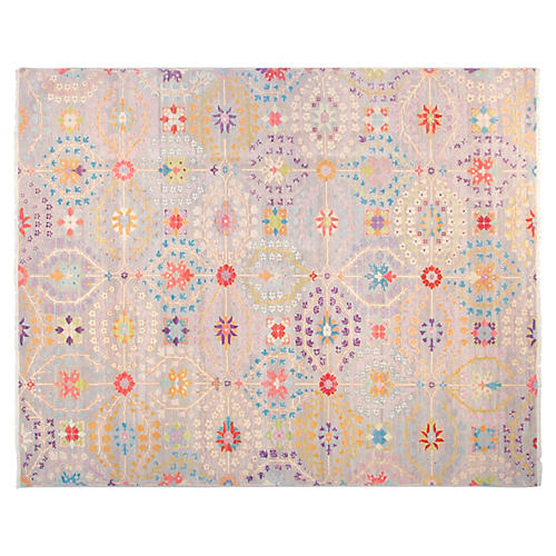 9'x12' Mason Rug, Light Gray
