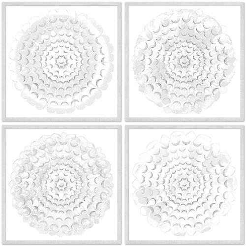 S/4 Floral Mandala Shadowboxes