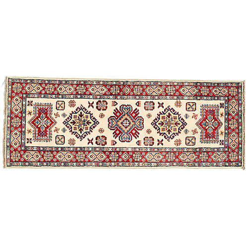 "2'1""x5'9"" Keely Kazak Runner, Red"