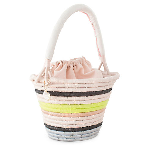 Conch Bucket Bag, Natural/Neon