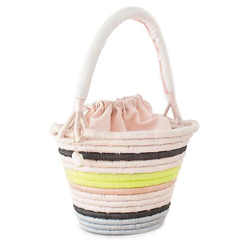 Conch Bucket Bag, Natural/Neon